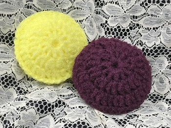 Hand Made Scrubbies:  Double Sided and Stuffed